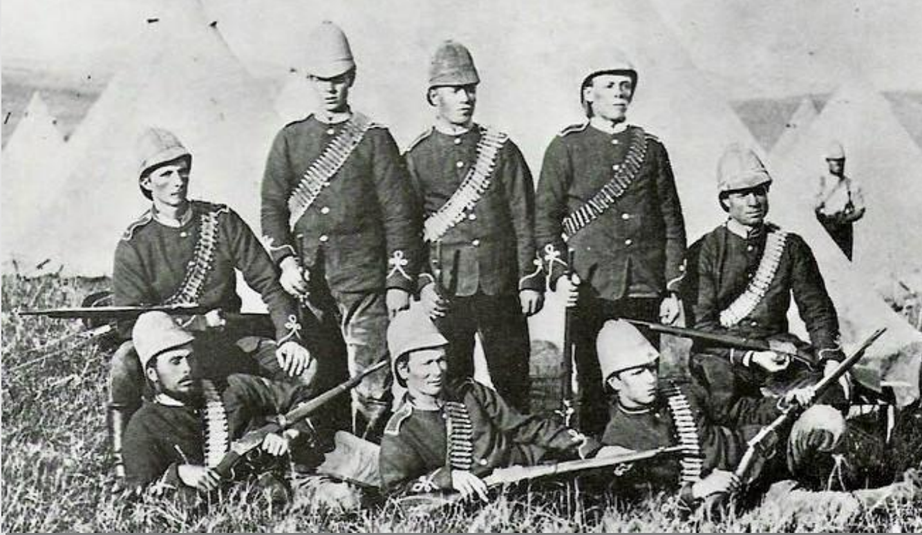 Sir Evelyn Wood's Bodyguard during the Zulu War with Swinburn Henry Carbines. Whiles these men are not Natal Volunteers, it is highly probable that their carbines are Natal Government issue .