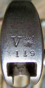 Volunteer Marking on a Commercial Pat .1875 Bayonet.
