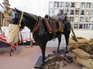 Mounted Rifle display at the Hokitika Museum